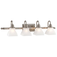 Mission Ridge 4 Light 34 inch Brushed Nickel Bath Bar Wall Light