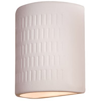 Ceramic 1 Light 10 inch White Outdoor Sconce in Incandescent
