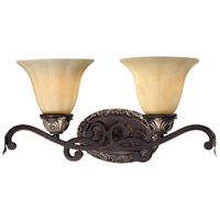Minka-Lavery 5772-301 Bellasera 2 Light 21 inch Castlewood Walnut w/Silver Highlights Bath Wall Light photo thumbnail