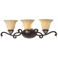 Minka-Lavery Bellasera 3 Light Bath in Castlewood Walnut w/Silver Highlights 5773-301