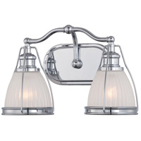 Minka-Lavery 5792-77 Signature 2 Light 15 inch Chrome Bath Light Wall Light