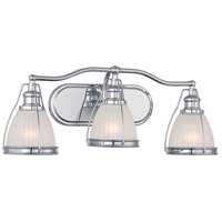 Minka-Lavery Signature 3 Light Vanity Light in Chrome 5793-77