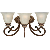 Belcaro 3 Light 20 inch Belcaro Walnut Bath Bar Wall Light