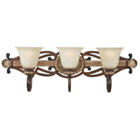 Belcaro 3 Light 31 inch Belcaro Walnut Bath Wall Light