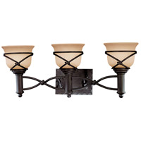 Minka-Lavery Aspen II 3 Light Bath in Aspen Bronze 5973-1-138