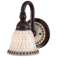 Minka Lavery Piastrella Bath 1 Light Bath Light in Oil Rubbed Bronze 6051-143