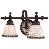 Minka Lavery Piastrella Bath 2 Light Bath Light in Oil Rubbed Bronze 6052-143
