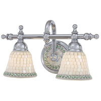 Piastrella 2 Light 16 inch Chrome Bath Bar Wall Light