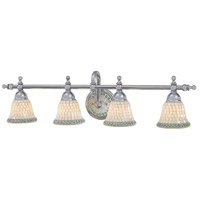 Piastrella 4 Light 34 inch Chrome Bath Bar Wall Light