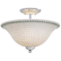Minka-Lavery Piastrella 3 Light Semi-flush in Chrome 6057-77