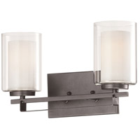 Minka-Lavery 6102-172 Parsons Studio 2 Light 16 inch Smoked Iron Bath Bar Wall Light
