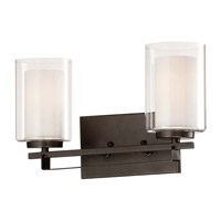 Minka-Lavery Parsons Studio 2 Light Vanity Light in Smoked Iron 6102-172