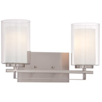 Minka-Lavery 6102-84 Parsons Studio 2 Light 16 inch Brushed Nickel Bath Bar Wall Light