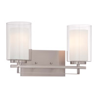 Minka Lavery Parsons Studio 2 Light Bath Light in Brushed Nickel 6102-84