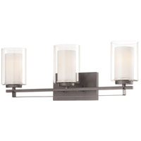 Minka-Lavery 6103-172 Parsons Studio 3 Light 24 inch Smoked Iron Bath Bar Wall Light