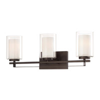 Minka-Lavery Parsons Studio 3 Light Vanity Light in Smoked Iron 6103-172