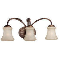Candlewood 3 Light 22 inch Rustique Patina Bath Wall Light
