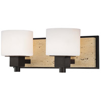 Minka-Lavery Signature 2 Light Bath in Aged Stone w/Unfilled Travertine Stone Accent 6152-244