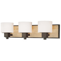 Minka-Lavery Signature 3 Light Bath in Aged Stone w/Unfilled Travertine Stone Accent 6153-244