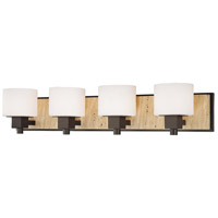 Minka-Lavery Signature 4 Light Bath in Aged Stone w/Unfilled Travertine Stone Accent 6154-244