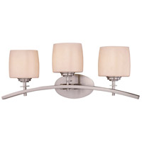 Minka-Lavery 6183-84 Raiden 3 Light 25 inch Brushed Nickel Bath Bar Wall Light photo thumbnail