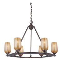 Minka-Lavery Cimarron 6 Light Chandelier in Dark Brushed Bronze 6249-267B