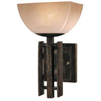 Lineage 1 Light 7 inch Iron Oxide Bath Sconce Wall Light