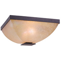Lineage 2 Light 13 inch Iron Oxide Flush Mount Ceiling Light