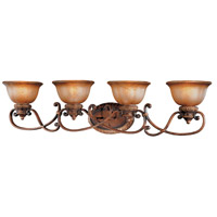 Illuminati 4 Light 40 inch Illuminati Bronze Bath Bar Wall Light