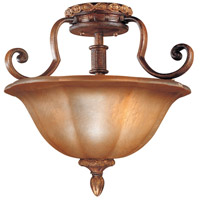 Minka-Lavery Hearst Castle Illuminati 3 Light Semi-flush in Illuminati Bronze 6357-177