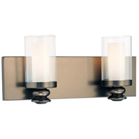 Harvard Court 2 Light 15 inch Harvard Court Bronze Plated Bath Bar Wall Light