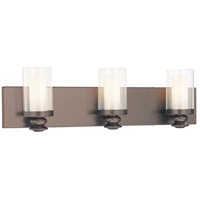 Harvard Court 3 Light 24 inch Harvard Ct. Bronze Bath Wall Light