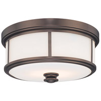 Minka-Lavery 6368-281 Signature 3 Light 16 inch Harvard Court Bronze Flush Mount Ceiling Light