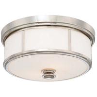 Minka-Lavery 6368-613 Signature 3 Light 16 inch Polished Nickel Flush Mount Ceiling Light