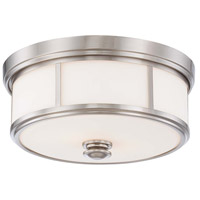 Minka-Lavery 6368-84 Signature 3 Light 16 inch Brushed Nickel Flush Mount Ceiling Light