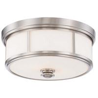 Minka-Lavery 6368-84 Signature 3 Light 16 inch Brushed Nickel Flush Mount Ceiling Light