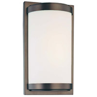 Minka-Lavery Signature 1 Light Sconce in Dark Brushed Bronze 6448-267-PL
