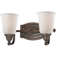 Minka-Lavery Clairemont 2 Light Bath in Dark Brushed Bronze 6452-267