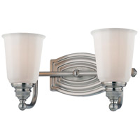 Clairemont 2 Light 13 inch Brushed Nickel Bath Bar Wall Light
