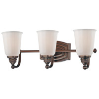 Minka-Lavery Clairemont 3 Light Bath in Dark Brushed Bronze 6453-267