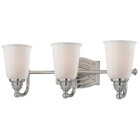 Clairemont 3 Light 19 inch Brushed Nickel Bath Bar Wall Light