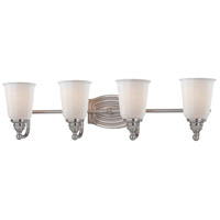 Clairemont 4 Light 27 inch Brushed Nickel Bath Bar Wall Light
