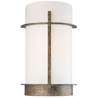 Minka-Lavery Compositions 1 Light Sconce in Aged Patina Iron 6460-273