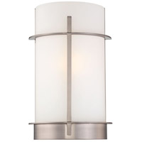 Minka-Lavery Signature 1 Light Sconce in Brushed Nickel 6460-84