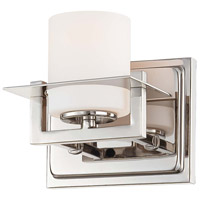 Minka-Lavery Compositions 1 Light Bath in Polished Nickel 6461-1-613 photo thumbnail
