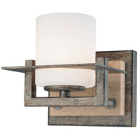 Minka-Lavery Compositions 1 Light Bath in Aged Patina Iron w/Travertine Stone 6461-273