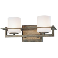 Compositions 2 Light 13 inch Aged Patina Iron Bath Bar Wall Light