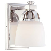Minka-Lavery 6501-613 Brookview 1 Light 5 inch Polished Nickel Bath Wall Light photo thumbnail