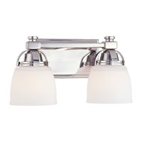 Minka-Lavery Brookview 2 Light Bath in Polished NIckel 6502-613