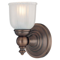 Fordyce 1 Light 5 inch Dark Brushed Bronze Bath Wall Light